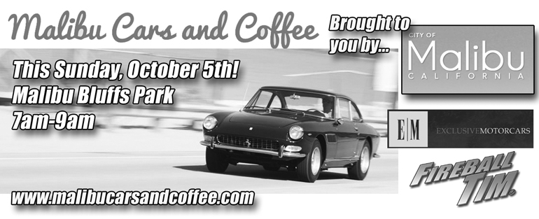 SoCal's MALIBU launches it's own Cars & Coffee this Sunday…