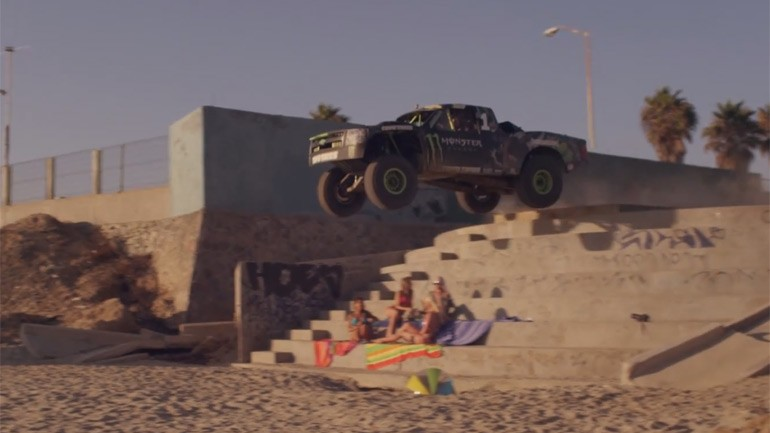 Recoil 2: B.J. Baldwin in Baja Truck Races Dan Bilzerian in Bikini-girl Toting Helicopter – Video