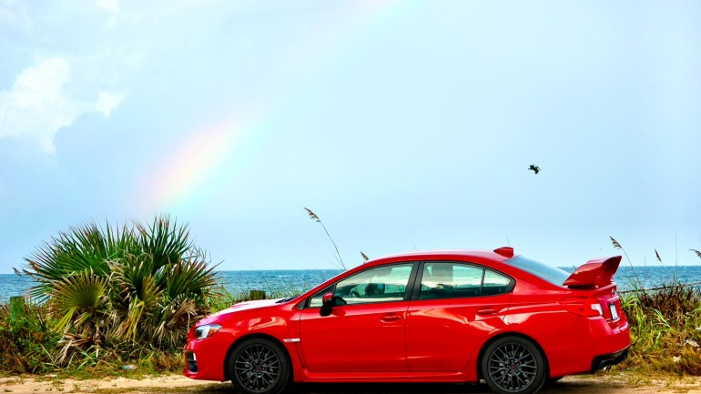 2015 Subaru WRX STI Runs on Premium Pump Gas and Rainbows