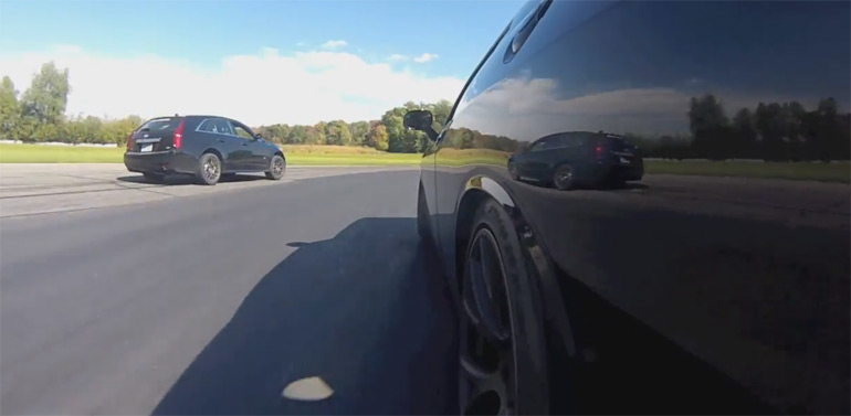 Ralph Gilles Chases Down CTS-V In Dodge Challenger Hellcat: Video