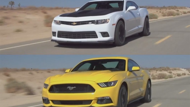 2015 Ford Mustang GT vs. 2015 Chevrolet Camaro SS: Motor Trend Head 2 Head Video