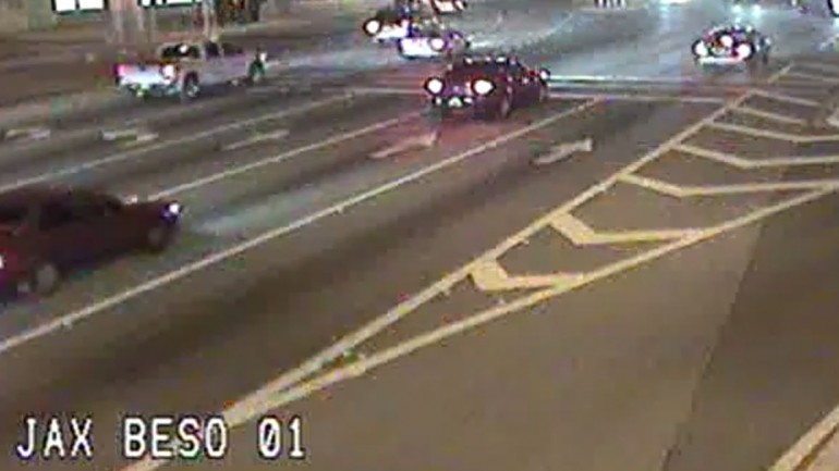 Video: Running a Red Light Frogger Style