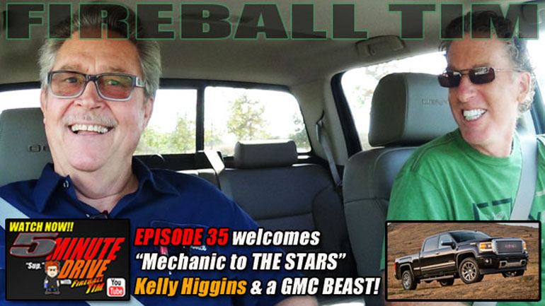All New 5MINUTE DRIVE Episode 35 features Malibu Mechanic to the Stars KELLY HIGGINS & a GMC Beast!!
