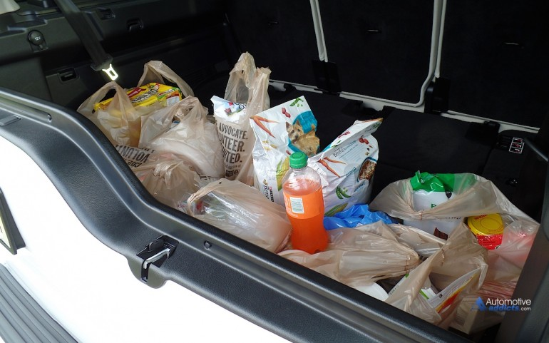 When the rear seating is stowed, the 2014 Land Rover LR4 has bountiful storage area.