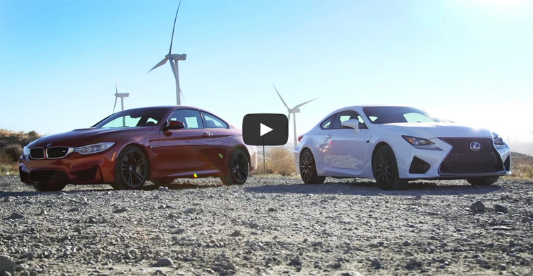 Head 2 Head: Motor Trend Pits All-New 2015 Lexus RC F against BMW M4 – Video