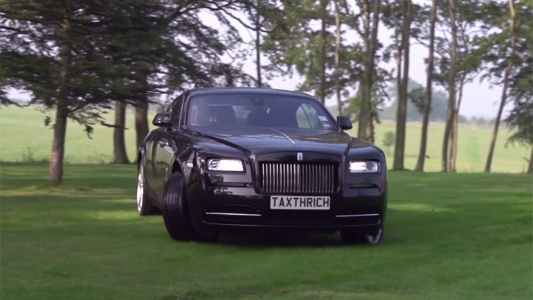 Rolls-Royce Wraith Goes Rally Style At The Hands of Tax The Rich: Video