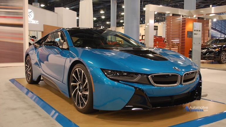 Visiting the BMW i8 at the Miami International Auto Show