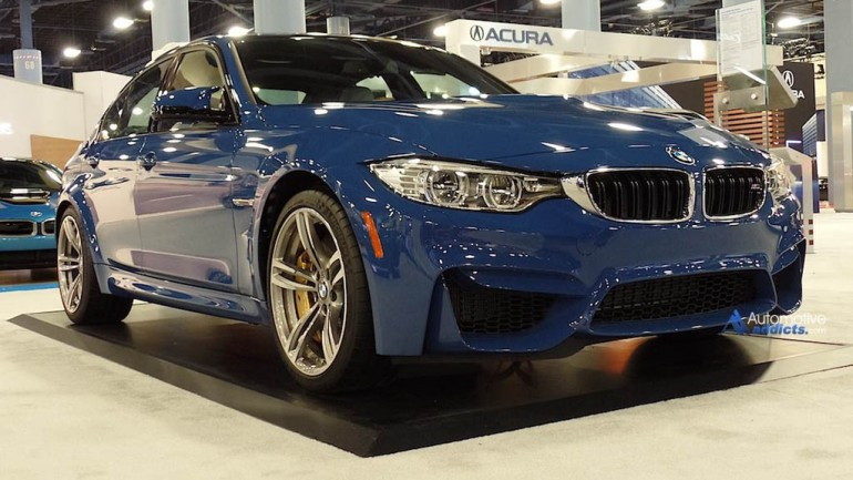 2015 BMW M3 Shod In Violet Blue II Individual Color at 2014 Miami Auto Show