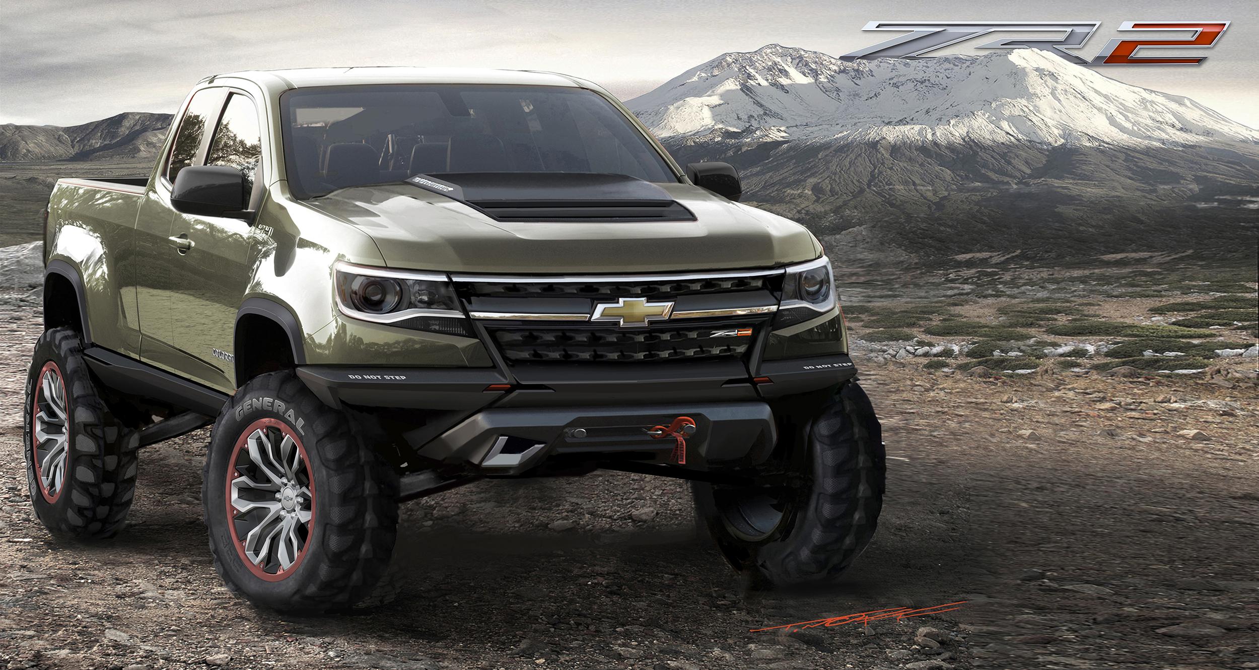 2015 chevrolet colorado zr2 concept truck rocks 2014 la auto show. Black Bedroom Furniture Sets. Home Design Ideas