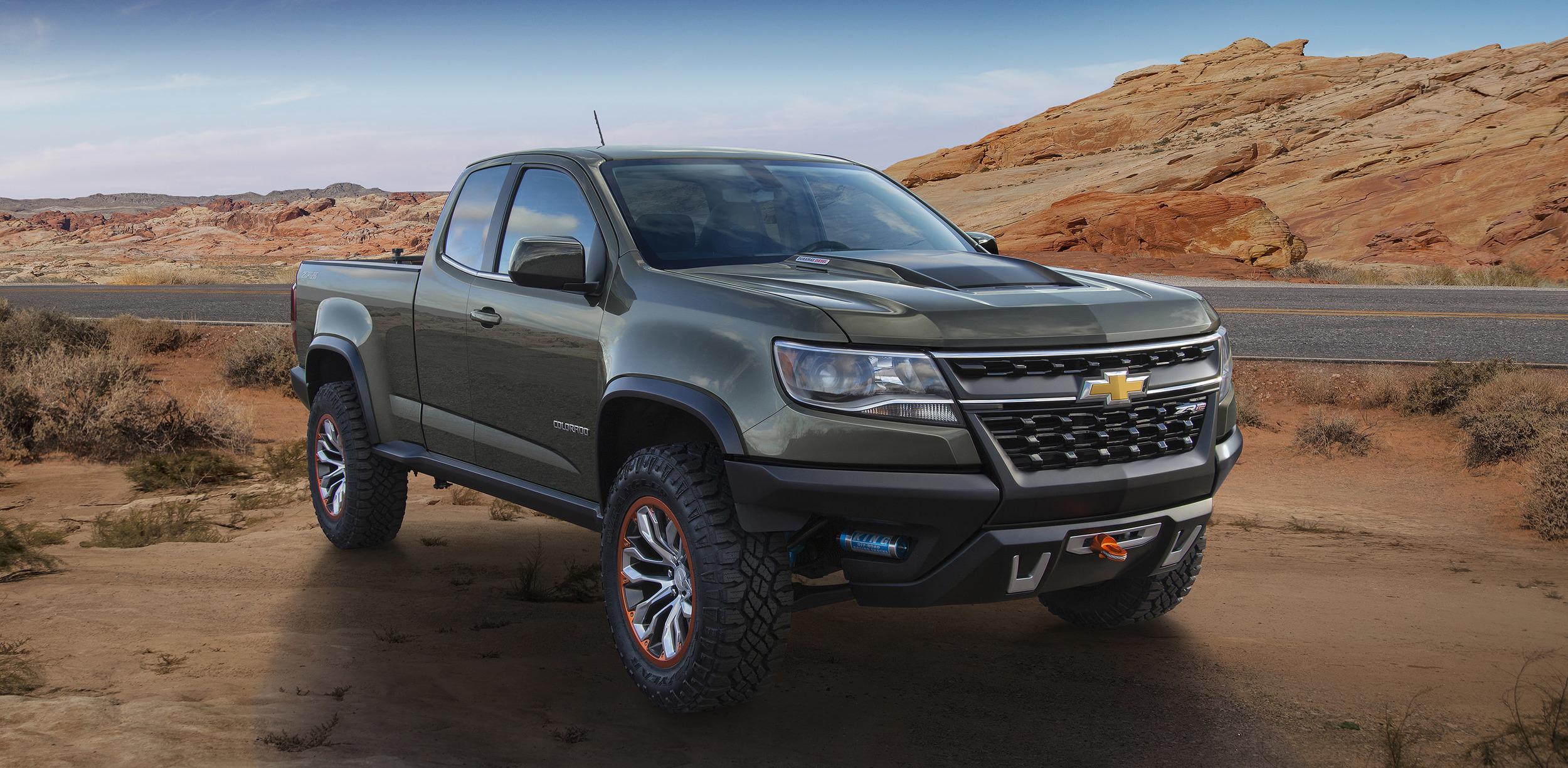 2015 Chevrolet Colorado ZR2 Concept Truck Rocks 2014 LA Auto Show