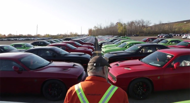 707-Horsepower On the Way to Dealerships: 2015 Dodge Challenger Hellcats Release Video
