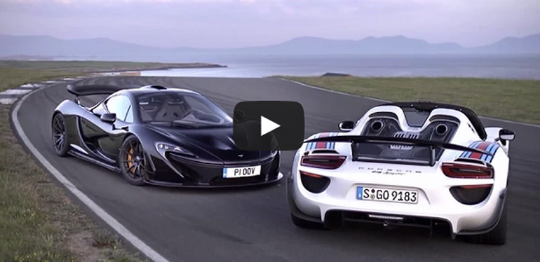 Video: McLaren P1 vs. Porsche 918 – Which is Faster?
