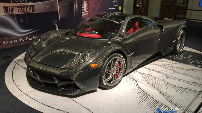 Carbon Fiber-Clad Pagani Huayra Makes Appearance at Miami Auto Show