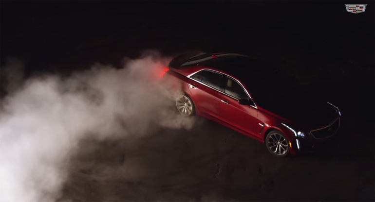 2016 Cadillac CTS-V Gets All Serious In Burnout Driving Footage: Video