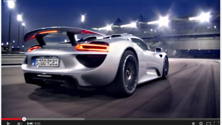 Video: Richard Hammond from Top Gear BBC Drives the Porsche 918