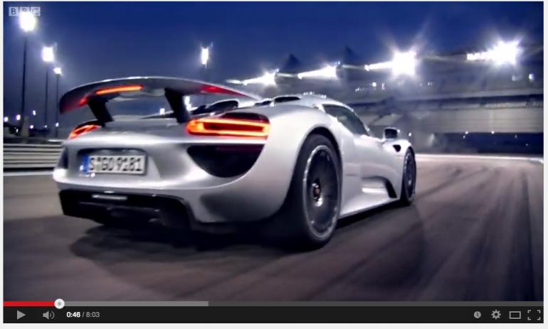 Top Gear BBC Porsche 918