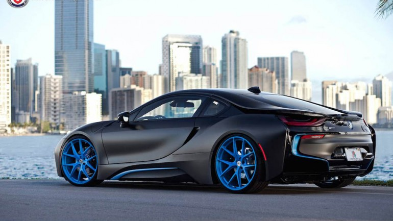 BMW i8 Gets Unique Transformation from set of HRE Wheels