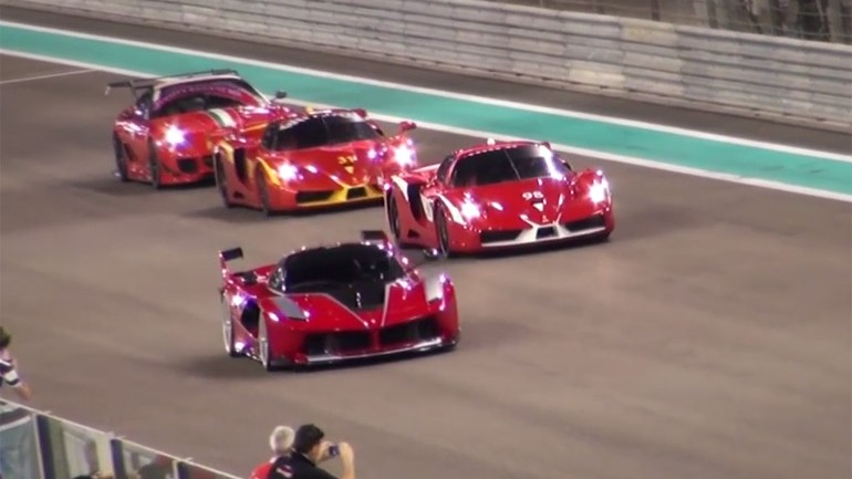 Ferrari FXX K On Track at Yas Marina: Video