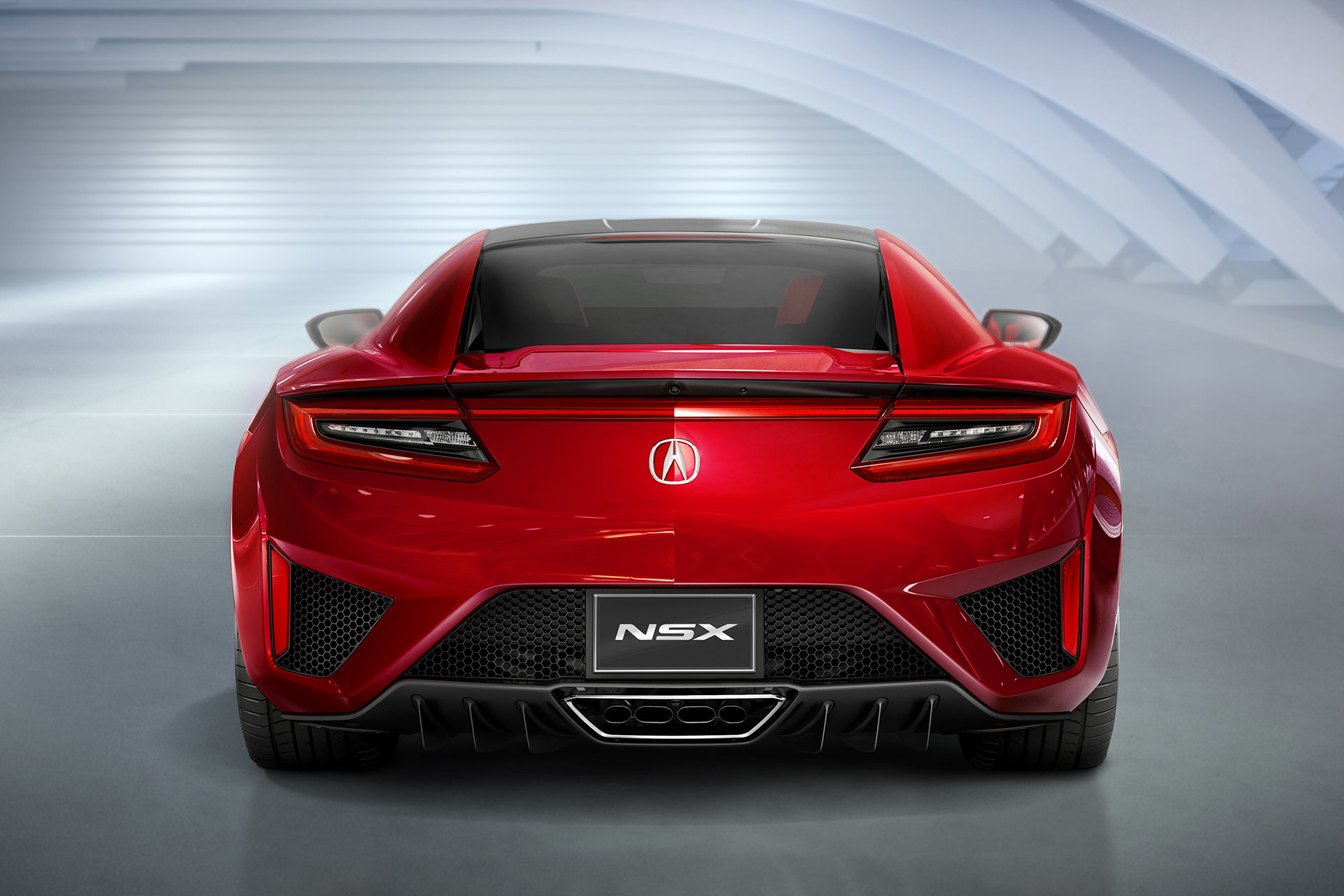acura reveals all new production nsx at 2015 detroit auto show. Black Bedroom Furniture Sets. Home Design Ideas