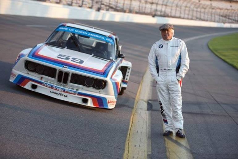 The No. 59 BMW 3.0 CSL Group 4 race car with driver Brian Redman, winners of the 1976 24 Hours of Daytona. (01/2015)