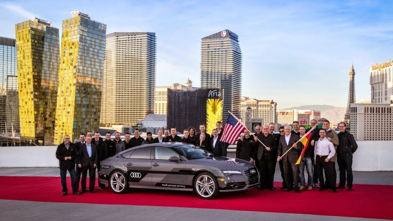 Audi A7 Piloted Driving Concept Makes Self-Driving Journey to Vegas at CES Successfully