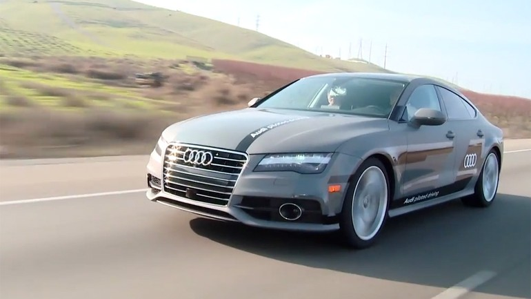 Audi Sets New A7 Piloted Driving Concept Off on 550-Mile Self-Driving Adventure: Video