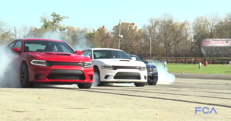 Dodge Ends 2014 and Welcomes 2015 With Smokey Hellcat Burnouts: Video