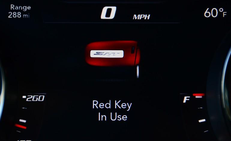 2015 Dodge Challenger Srt Hellcat Red Key