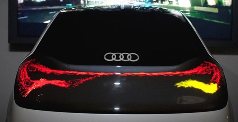 OLED Tail Lights Gives Us Glimpse of Automotive Future: Audi OLED Demo Video