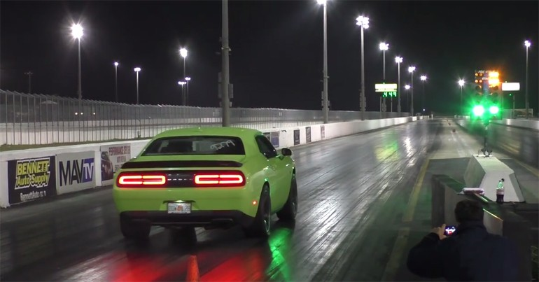 Here's your 10 second quarter mile time in the new 2015 Dodge Challenger SRT Hellcat!