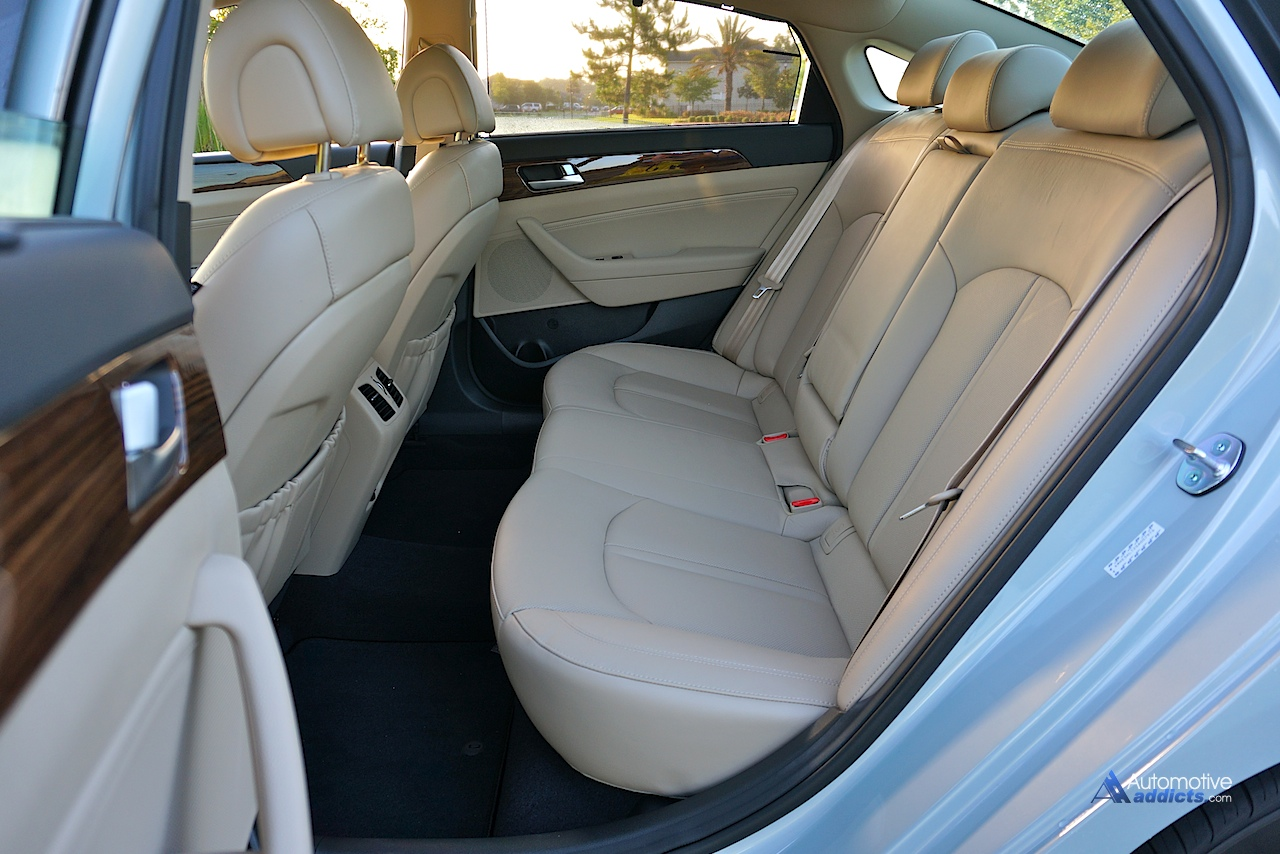 2016 Hyundai Sonata Hybrid Limited Rear Seats Posted By Malcolm Hogan Filed Under