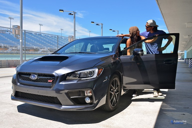 X-Factor 2013 Winners and Columbia Recording Artists Alex & Sierra and the 2016 Subaru WRX STI