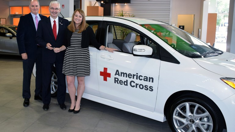 Mazda Donates 18-vehicle Fleet to Red Cross for Disaster Relief Efforts: Jacksonville-area Mazda Dealers Present Vehicle to Local Chapter