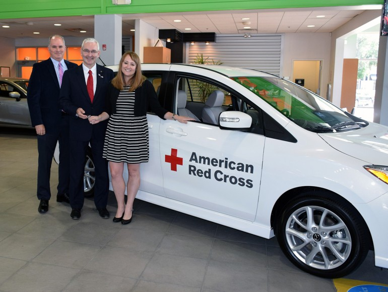 Mazda Donates 18 Vehicle Fleet To Red Cross For Disaster