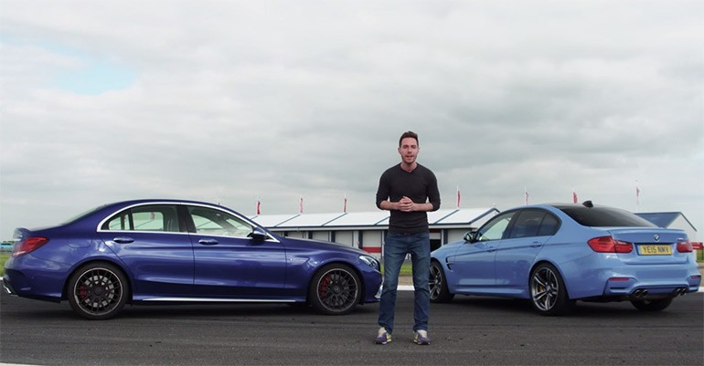 2015 BMW M3 vs. Mercedes-Benz C63 S AMG: Video