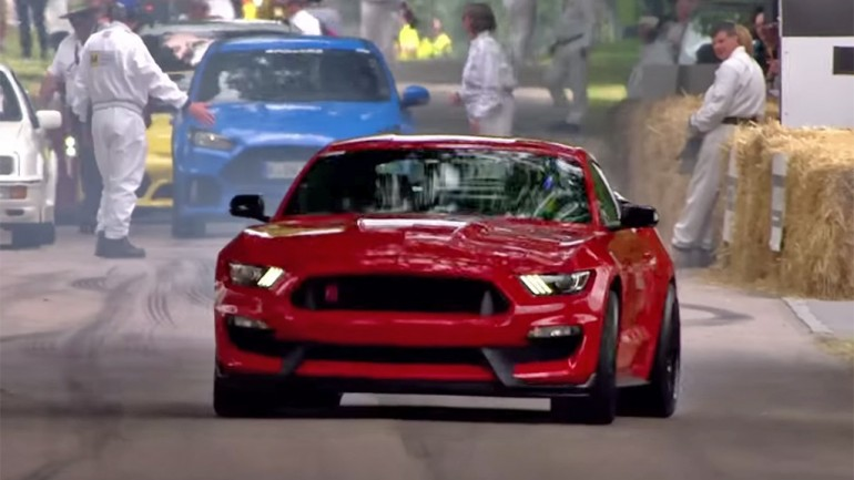 The Stig Dances in New Ford Mustang Shelby GT350R at Goodwood Festival of Speed 2015: Video