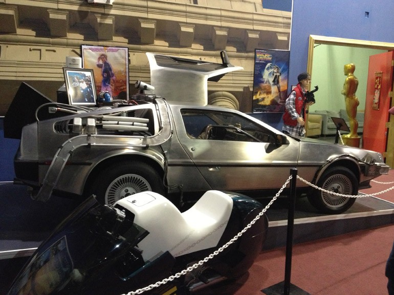 Back to the Future display at The Miami Auto Museum Dezer Collection