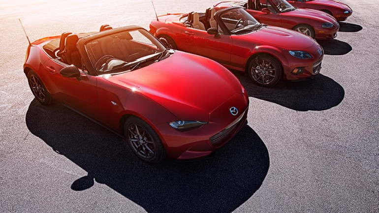 September 12th Automotive Addicts Cars and Coffee to Celebrate 4-Generations of Mazda Miata