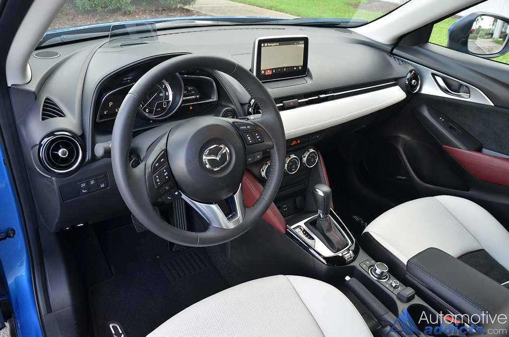 2016 mazda cx 3 grand touring fwd review test drive for Mazda cx 3 interieur