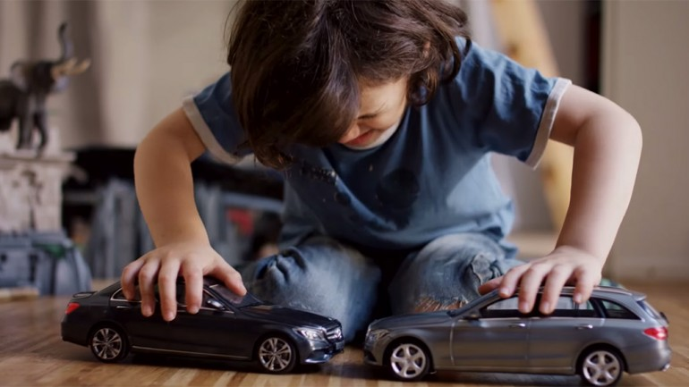Mercedes-Benz Advertises Advanced Safety Tech With Kids' Uncrashable Toy Cars: Video