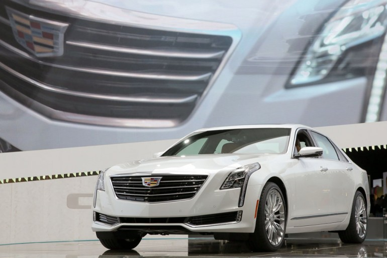 Cadillac introduces the CT6 luxury sedan Wednesday, April 1, 2015 at the New York International Auto Show in New York, New York. The CT6 is one of the world's lightest and most agile full-size luxury performance sedans, with dimensions and spaciousness on par with BMW's short-wheelbase 7-Series, but the approximate weight, agility and efficiency of the smaller Cadillac CTS – which is lighter than a BMW 5-Series. (Photo by Mike Appleton for Cadillac)