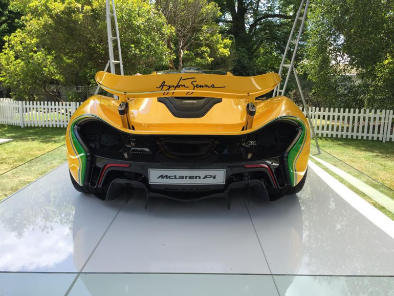 mclaren p1 dressed in ayrton senna livery paying tribute to the legendary and late f1 world champion. Black Bedroom Furniture Sets. Home Design Ideas