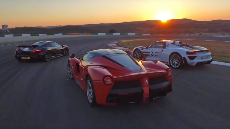 Chris Harris On Cars with the Holy Trinity: LaFerrari vs Porsche 918 vs McLaren P1 at Portimao Circuit