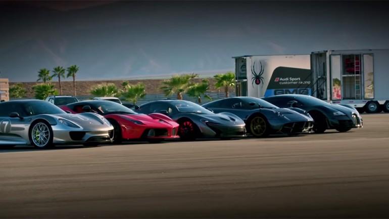 Hyper 5: The Meanest, Baddest Compete – LaFerrari vs Porsche 918 vs McLaren P1 vs Bugatti Super Sport vs Pagani Huayra – Video