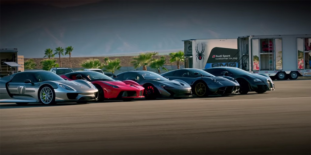 Bugatti Veyron And Ferrari Laferrari Drag Race L further Maxresdefault also Highpants Hypercar Battle Venom Gt in addition Laferrari Porsche Maclarenp Bugattiveyronss Paganihuayra  pete likewise Red Silver Laferrari Fxx K Rear Side Angle. on laferrari vs bugatti veyron