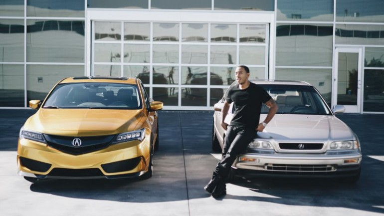 Acura Reunites Ludacris with his Restored 1993 Legend beside Galpin ILX at 2015 SEMA Show