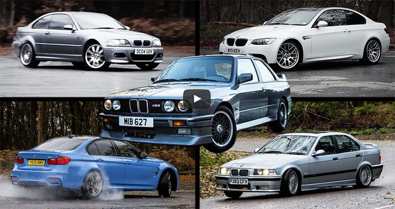 Car Throttle Attempts to Sum-up the BMW M3 from all generations (E30, E36, E46, E92, F80) in 'Ultimate Review Video'