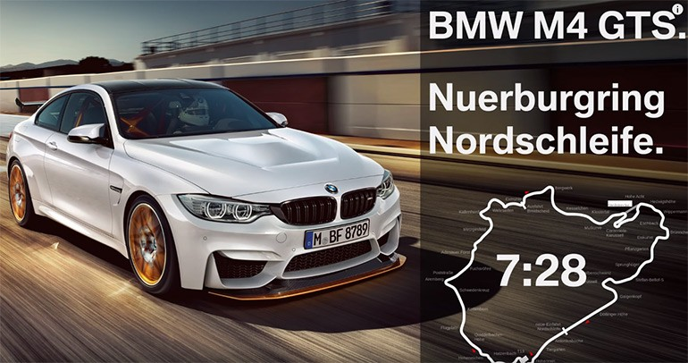 New BMW M4 GTS Sets 7 Minute 28 Seconds Nurburgring Lap Time: Video