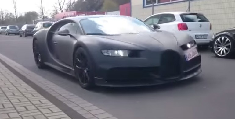 Son of a Veyron: Bugatti Chiron rolls by Preparing to Conquer All – Video