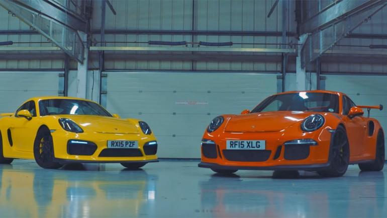 Stuttgart's Finest Mainstreamers Battle: Porsche Cayman GT4 vs 911 GT3 RS Track Test Video